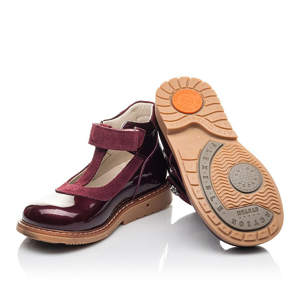 Детские туфли Woopy Fashion бордовые для девочек натуральная лаковая кожа размер 26-34 (4334) Фото 2