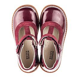 Детские туфли Woopy Fashion бордовые для девочек натуральная лаковая кожа размер 26-34 (4334) Фото 5