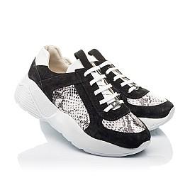 Детские кроссовки Woopy Fashion черные для девочек натуральная кожа, замша размер 33-40 (4336) Фото 1