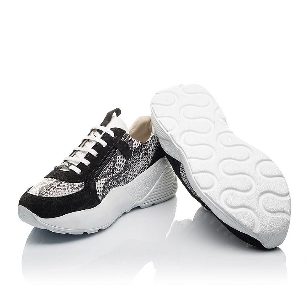 Детские кроссовки Woopy Fashion черные для девочек натуральная кожа, замша размер 36-38 (4336) Фото 2