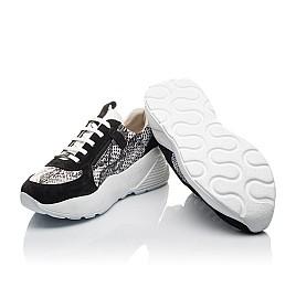 Детские кроссовки Woopy Fashion черные для девочек натуральная кожа, замша размер 33-40 (4336) Фото 2