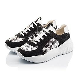 Детские кроссовки Woopy Fashion черные для девочек натуральная кожа, замша размер 33-40 (4336) Фото 3