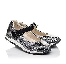 Детские туфли Woopy Fashion черные для девочек натуральная кожа размер 33-37 (4337) Фото 1