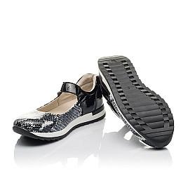 Детские туфли Woopy Fashion черные для девочек натуральная кожа размер 33-37 (4337) Фото 2