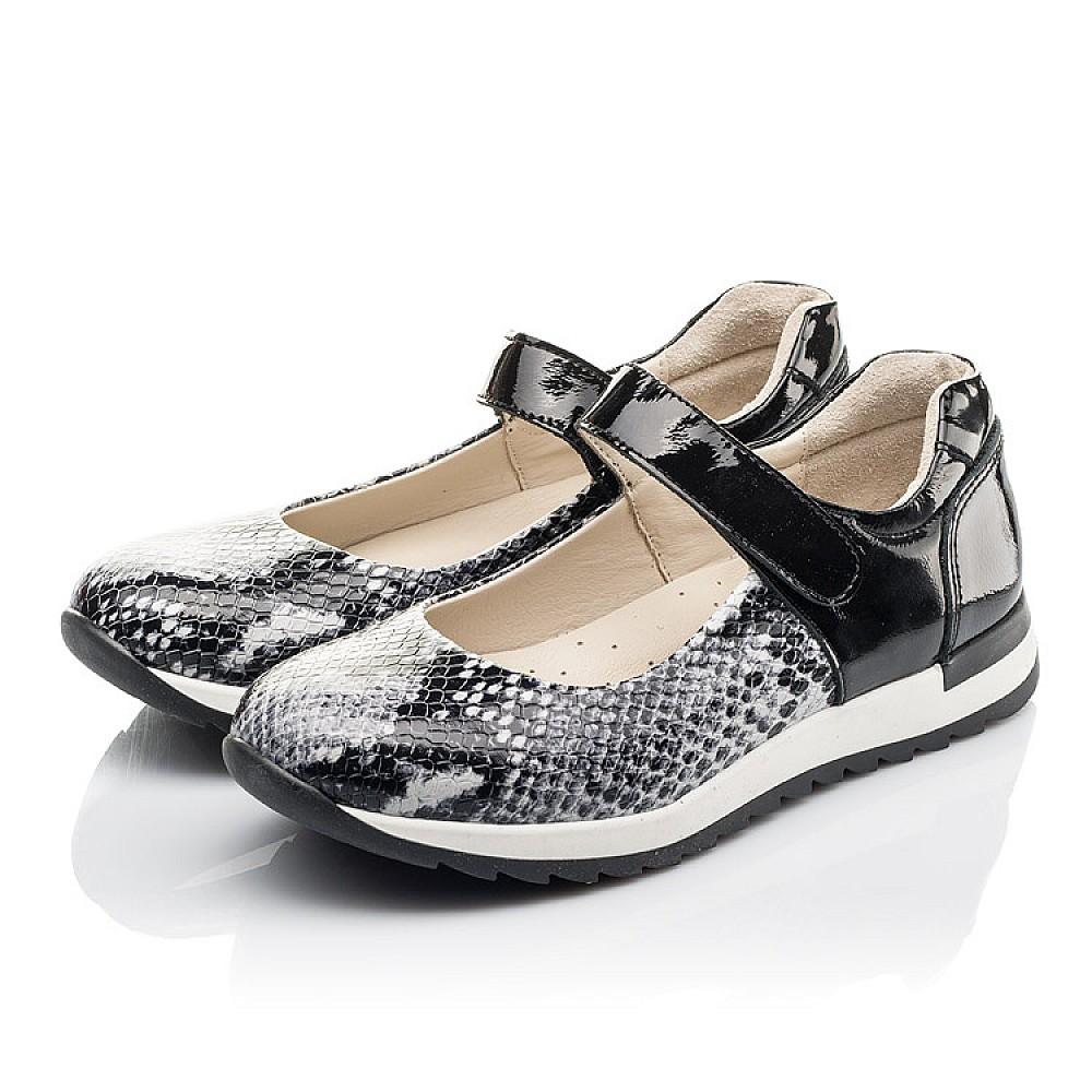 Детские туфли Woopy Fashion черные для девочек натуральная кожа размер 32-38 (4337) Фото 3