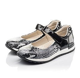 Детские туфли Woopy Fashion черные для девочек натуральная кожа размер 33-37 (4337) Фото 3