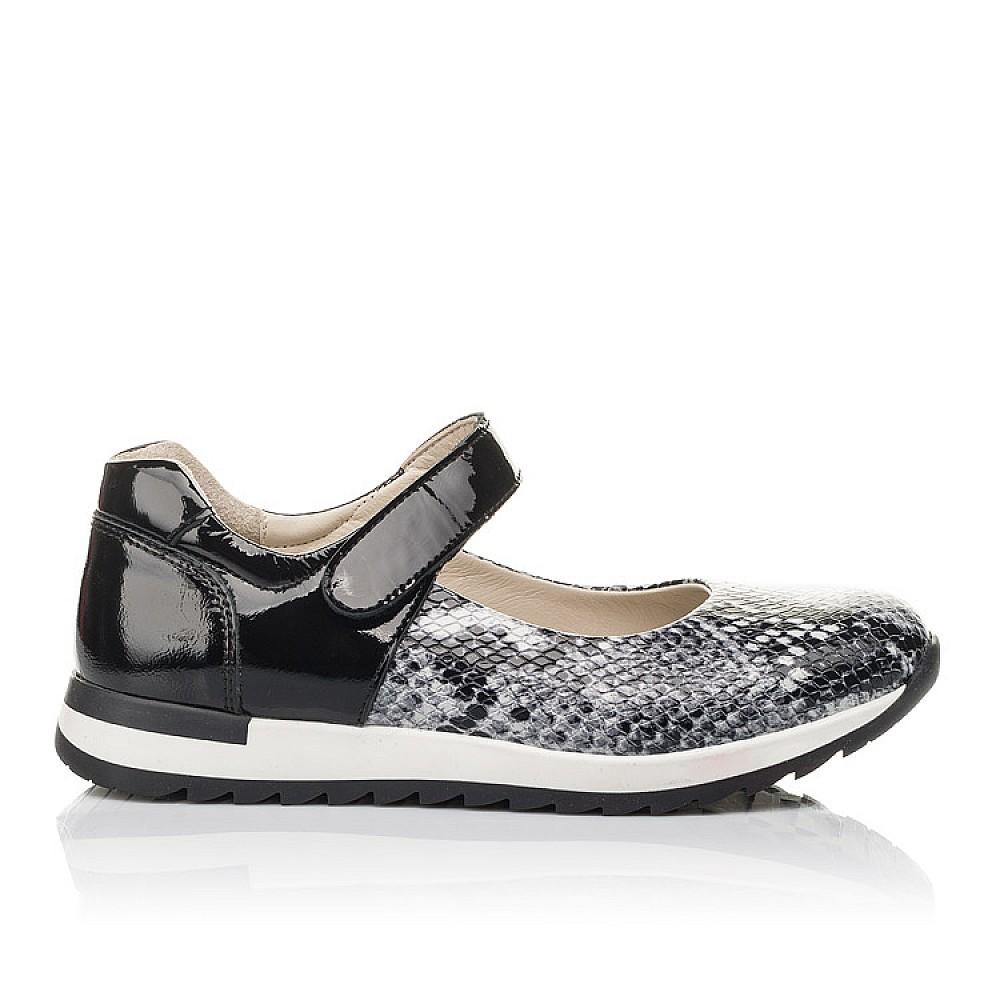 Детские туфли Woopy Fashion черные для девочек натуральная кожа размер 32-38 (4337) Фото 4