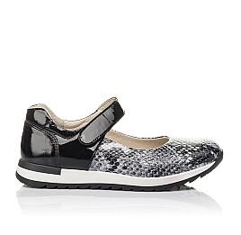 Детские туфли Woopy Fashion черные для девочек натуральная кожа размер 33-37 (4337) Фото 4