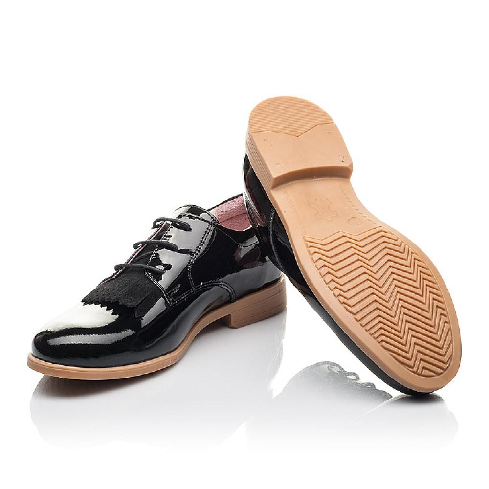 Детские туфли (шнурок резинка) Woopy Fashion черные для девочек натуральная лаковая кожа размер 33-40 (4338) Фото 2