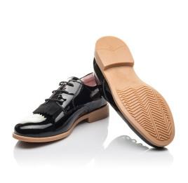 Детские туфли (шнурок резинка) Woopy Fashion черные для девочек натуральная лаковая кожа размер 37-40 (4338) Фото 2