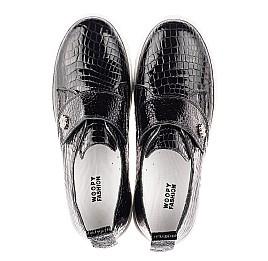 Детские кеди Woopy Fashion черные для девочек натуральная лаковая кожа размер 32-38 (4339) Фото 5