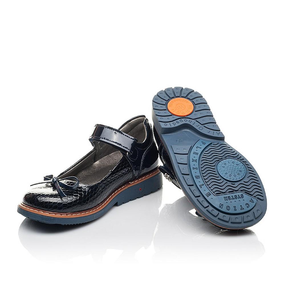 Детские туфли Woopy Fashion синие для девочек натуральная лаковая кожа размер 29-34 (4340) Фото 2