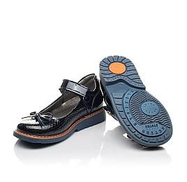 Детские туфли Woopy Fashion синие для девочек натуральная лаковая кожа размер 32-34 (4340) Фото 2