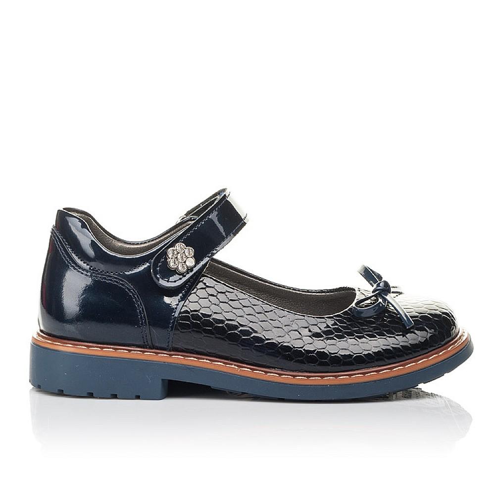 Детские туфли Woopy Fashion синие для девочек натуральная лаковая кожа размер 29-34 (4340) Фото 4