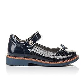 Детские туфли Woopy Fashion синие для девочек натуральная лаковая кожа размер 32-34 (4340) Фото 4