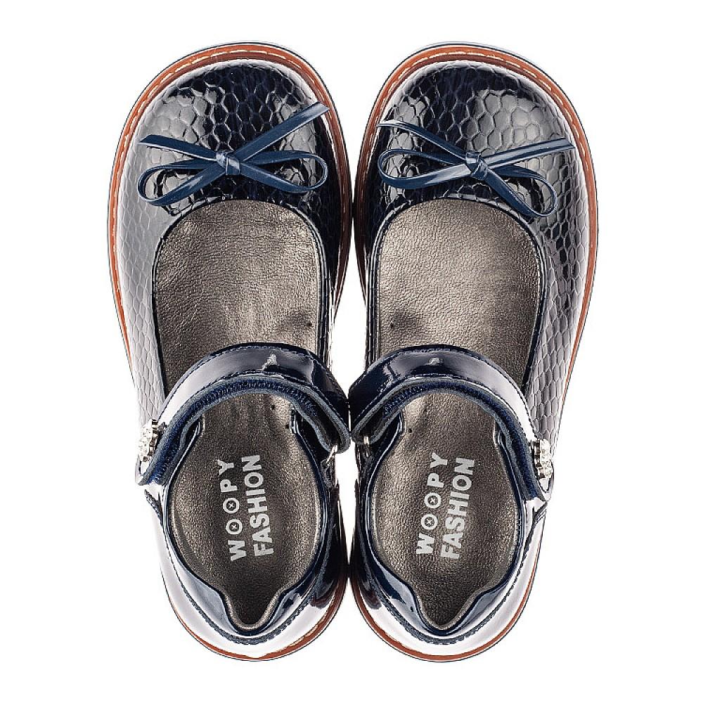 Детские туфли Woopy Fashion синие для девочек натуральная лаковая кожа размер 29-34 (4340) Фото 5