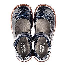 Детские туфли Woopy Fashion синие для девочек натуральная лаковая кожа размер 32-34 (4340) Фото 5