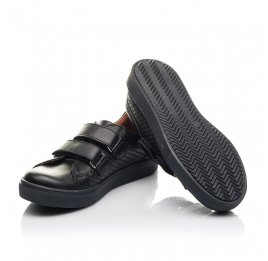 Детские кеды Woopy Fashion черные для девочек натуральная кожа размер 29-31 (4341) Фото 2