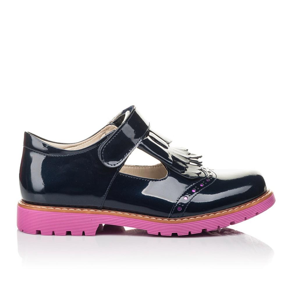 Детские туфли Woopy Fashion синие для девочек натуральная лаковая кожа размер 34-39 (4344) Фото 4
