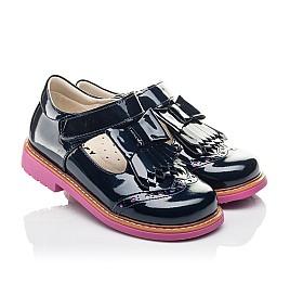 Детские туфли Woopy Fashion синие для девочек натуральная лаковая кожа размер 26-30 (4345) Фото 1