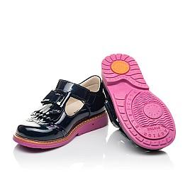 Детские туфли Woopy Fashion синие для девочек натуральная лаковая кожа размер 26-32 (4345) Фото 2