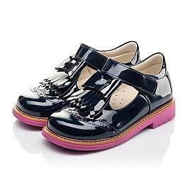 Детские туфли Woopy Fashion синие для девочек натуральная лаковая кожа размер 26-33 (4345) Фото 3