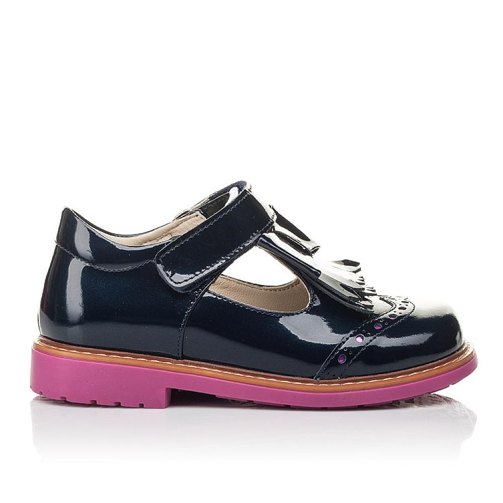 Детские туфли Woopy Fashion синие для девочек натуральная лаковая кожа размер 26-36 (4345) Фото 4
