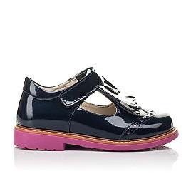Детские туфли Woopy Fashion синие для девочек натуральная лаковая кожа размер 26-30 (4345) Фото 4