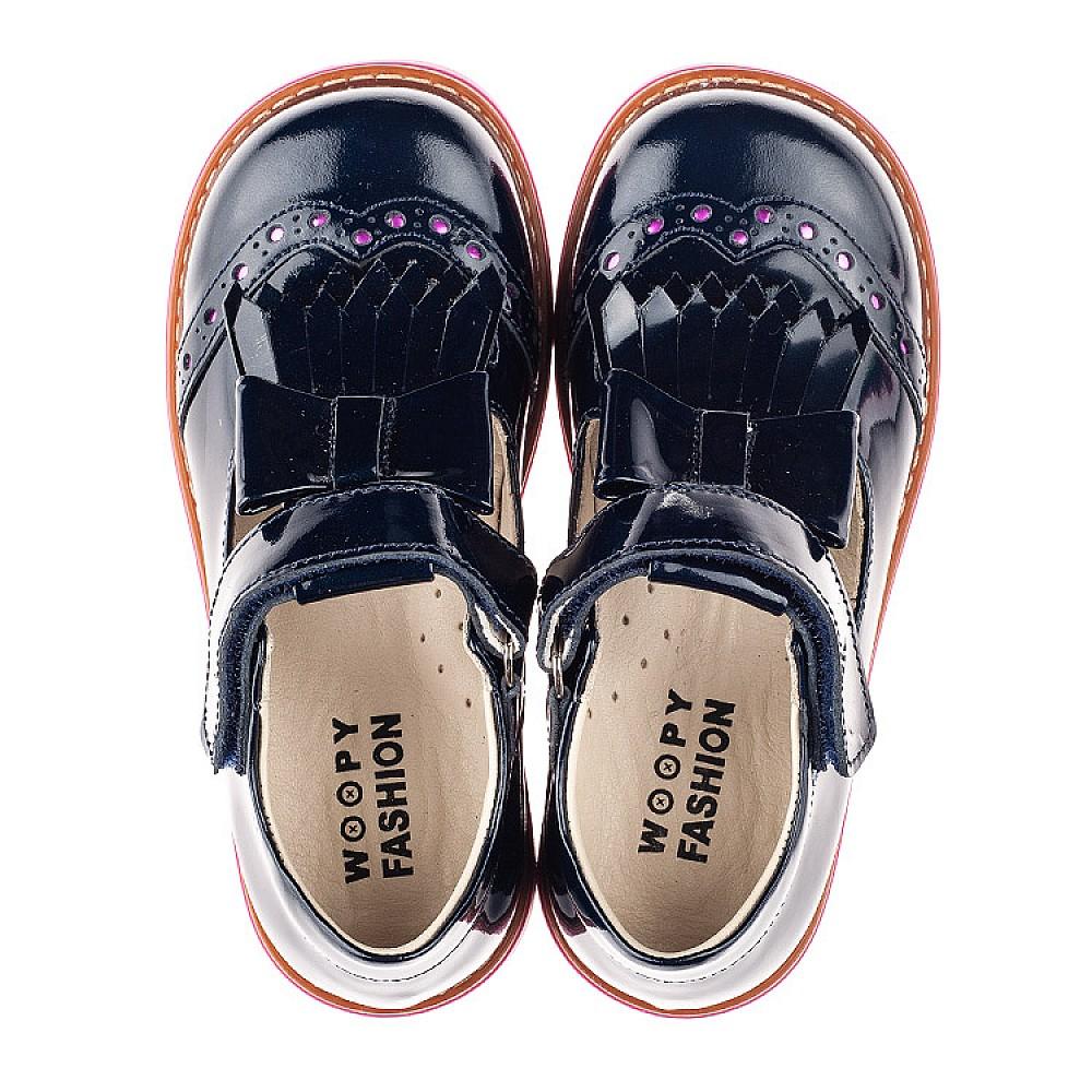 Детские туфли Woopy Fashion синие для девочек натуральная лаковая кожа размер 26-36 (4345) Фото 5