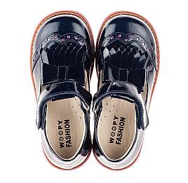 Детские туфли Woopy Fashion синие для девочек натуральная лаковая кожа размер 26-33 (4345) Фото 5