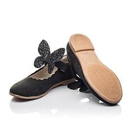 Детские туфли Woopy Fashion черные для девочек натуральный нубук размер 26-36 (4346) Фото 2