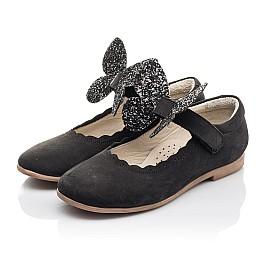 Детские туфли Woopy Fashion черные для девочек натуральный нубук размер 26-36 (4346) Фото 3