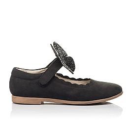 Детские туфли Woopy Fashion черные для девочек натуральный нубук размер 26-36 (4346) Фото 4