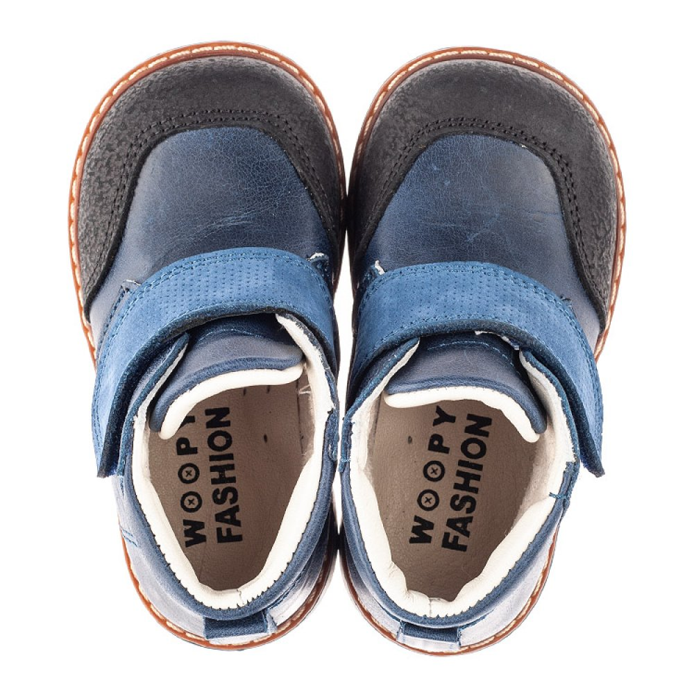 Детские демисезонные ботинки Woopy Fashion синие для мальчиков натуральная кожа размер 20-23 (4347) Фото 5