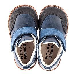 Детские демисезонные ботинки Woopy Fashion синие для мальчиков натуральная кожа размер 20-30 (4347) Фото 5