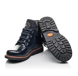 Детские демисезонные ботинки Woopy Fashion синие для девочек натуральная лаковая кожа размер 27-36 (4348) Фото 2