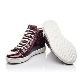 Детские демисезонные ботинки Woopy Fashion бордовые для девочек натуральная лаковая кожа размер 27-40 (4351) Фото 2