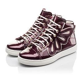 Детские демисезонные ботинки Woopy Fashion бордовые для девочек натуральная лаковая кожа размер 27-40 (4351) Фото 3