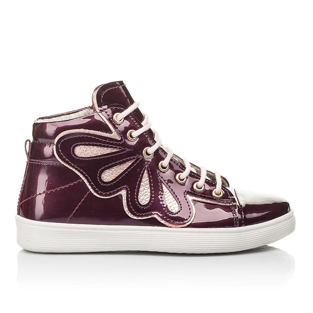 Детские демисезонные ботинки Woopy Fashion бордовые для девочек натуральная лаковая кожа размер 27-40 (4351) Фото 5