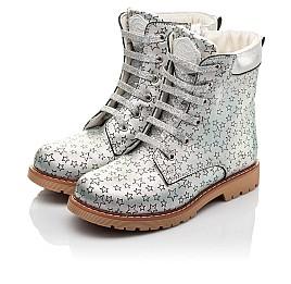 Детские демисезонные ботинки Woopy Fashion серебряные для девочек натуральная кожа размер 31-36 (4353) Фото 3