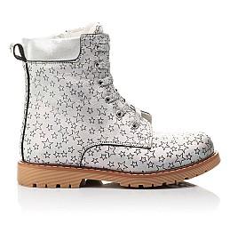 Детские демисезонные ботинки Woopy Fashion серебряные для девочек натуральная кожа размер 31-36 (4353) Фото 4