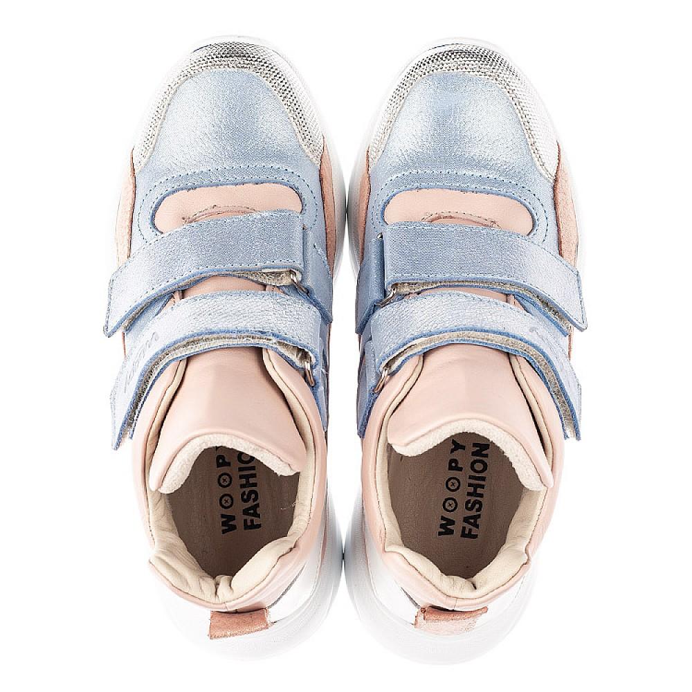 Детские демисезонные ботинки Woopy Fashion голубые для девочек натуральная кожа и нубук размер 26-40 (4354) Фото 5