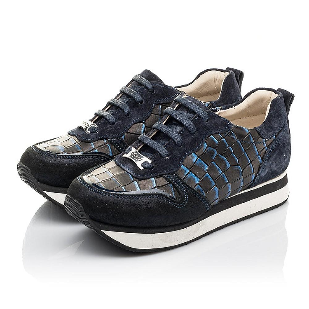 Детские кроссовки Woopy Fashion синие для девочек натуральный нубук и замша размер 31-40 (4355) Фото 3