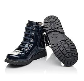 Детские демисезонные ботинки Woopy Fashion синие для девочек  натуральная лаковая кожа размер 29-39 (4356) Фото 2