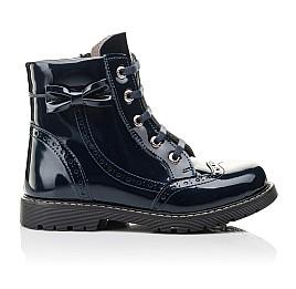 Детские демисезонные ботинки Woopy Fashion синие для девочек  натуральная лаковая кожа размер 29-39 (4356) Фото 4