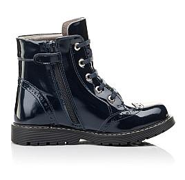 Детские демисезонные ботинки Woopy Fashion синие для девочек  натуральная лаковая кожа размер 29-39 (4356) Фото 5