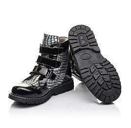 Детские демисезонные ботинки Woopy Fashion черные для девочек натуральная лаковая кожа и нубук размер 30-38 (4357) Фото 2