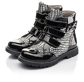 Детские демисезонные ботинки Woopy Fashion черные для девочек натуральная лаковая кожа и нубук размер 30-38 (4357) Фото 3