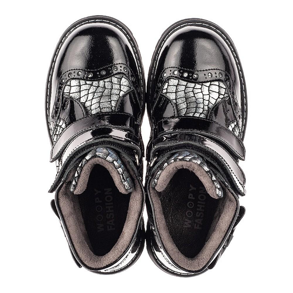 Детские демисезонные ботинки Woopy Fashion черные для девочек натуральная лаковая кожа и нубук размер 23-38 (4357) Фото 5