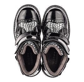 Детские демисезонные ботинки Woopy Fashion черные для девочек натуральная лаковая кожа и нубук размер 30-38 (4357) Фото 5